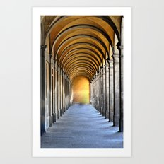 Golden Row Art Print
