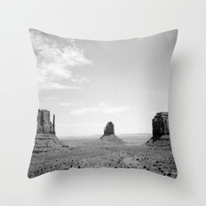 Monument Valley // Three Sisters Throw Pillow