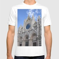 Siena Cathedral Mens Fitted Tee White SMALL