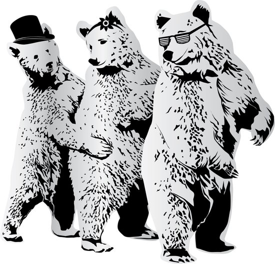 Funky Bears Art Print