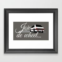 Joie De Wheel Framed Art Print