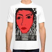 123. Mens Fitted Tee White SMALL