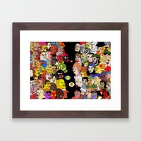 All went to see the game Framed Art Print