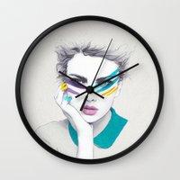 War Paint Sally Wall Clock