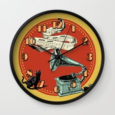 The Cat And The Cat Song… Wall Clock