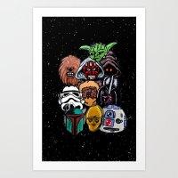 Space Wars Characters Art Print