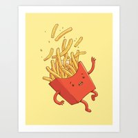 French Fries Fall Art Print