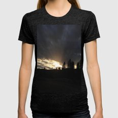 Sky Of Madrid Womens Fitted Tee Tri-Black SMALL