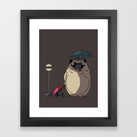 PUGTORO Framed Art Print