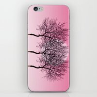 Triplet Trees In Pink iPhone & iPod Skin