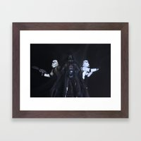 I find your lack of faith disturbing... Framed Art Print