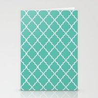 Quatrefoil - Teal Stationery Cards