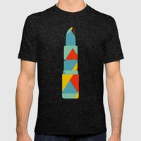 Lipstick Hues on Black Mens Fitted Tee Tri-Black SMALL