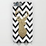 iPhone & iPod Case featuring Glitter Deer Silhouette … by Dani