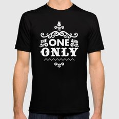 The one and only SMALL Black Mens Fitted Tee