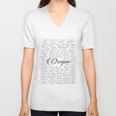 Oregon Unisex V-Neck