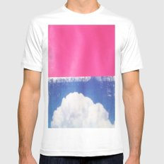 SKY/PNK Mens Fitted Tee White SMALL