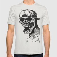 SNAPBACK EDIT Mens Fitted Tee Silver SMALL