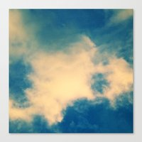 The Blue Sky Clouds Cubed Canvas Print