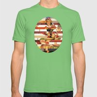 Glitch Pin-Up Redux: Kimberly Mens Fitted Tee Grass SMALL
