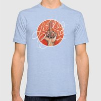 Little Bird Mens Fitted Tee Tri-Blue SMALL