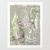 Faerie Girls Art Print