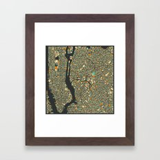 NEW YORK MAP Framed Art Print