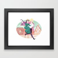 Howl's Moving Castle Framed Art Print