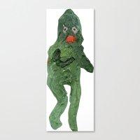 el monstro verde Canvas Print