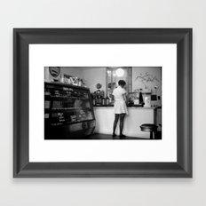 Bakery Girl Framed Art Print