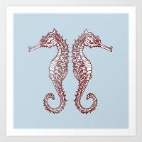 Seahorses Art Print