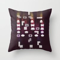 War Of The 8-Bit Worlds Throw Pillow