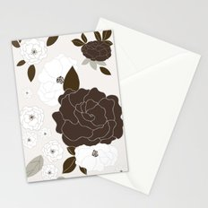Soft Pastel Floral Print Stationery Cards