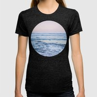 Pacific Ocean Waves Womens Fitted Tee Tri-Black SMALL