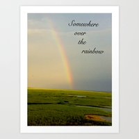 Somewhere Over the Rainbow Art Print