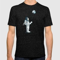 Space Balloon Mens Fitted Tee Tri-Black SMALL