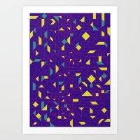 TronGeometric Art Print
