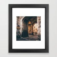 At the Lion's Gate Framed Art Print