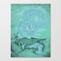 The River's Fierce Ascension Canvas Print