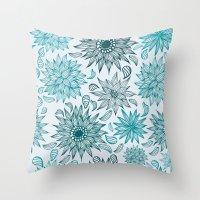 Seamless flower pattern Throw Pillow