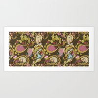 Paisley Brown Art Print