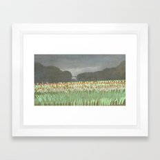Tulip Parade Framed Art Print