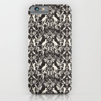 Victorian cat damask iPhone 6 Slim Case