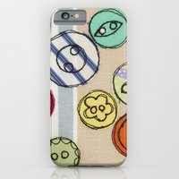 Embroidered Button Illustration iPhone 6 Slim Case