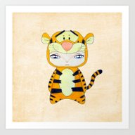 Art Print featuring A Boy - Tigger by Christophe Chiozzi