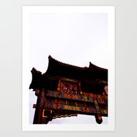 Bridge Over Chinatown  Art Print