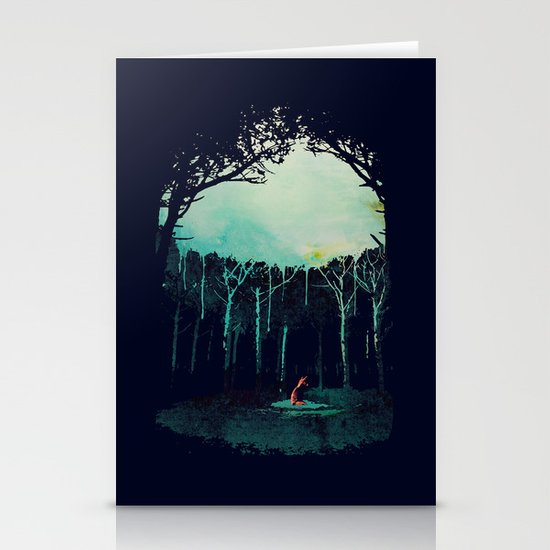Deep in the forest Stationery Card