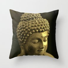 Three things cannot be long hidden: the sun, the moon, and the truth. - Buddha Throw Pillow