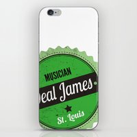 Deal James, Round Sticker Green iPhone & iPod Skin