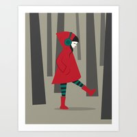 Art Print featuring There is No Wolf by Volkan Dalyan